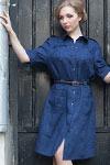 джинсовое платье сафари